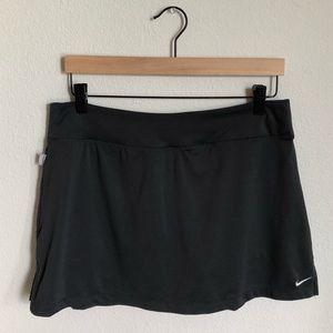 NIKE Logo Dark Grey Lined Tennis Skirt
